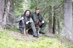 pic - Scott O'Brein of Steyr Arms with dog and friend