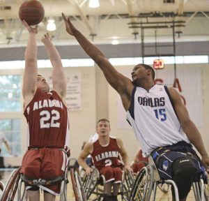pic - wheelchair basketball players