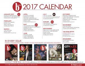 B-Metro Editorial Calenday 2017