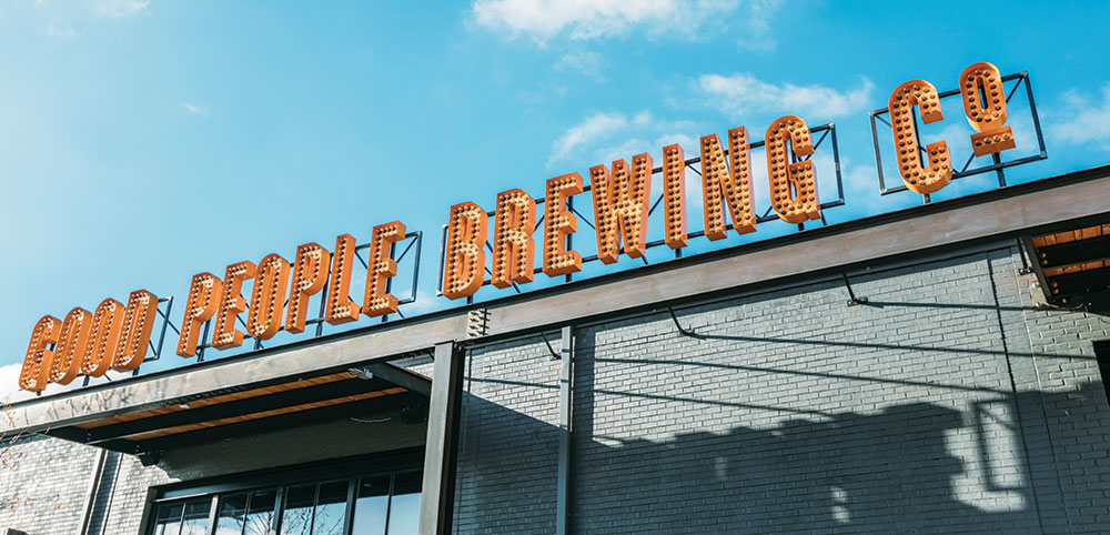 Good People Brewing Company sign