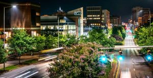 UAB Birmingham at night
