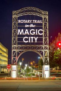 Magic City Rotary Trail entrance