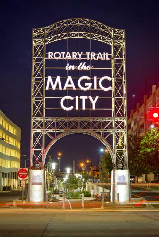 Magic City Rotary Trail entrance